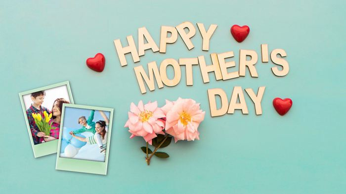 Happy Mother's Day母亲节电子相册PPT模板